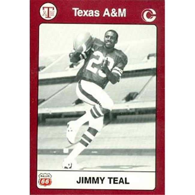 Jimmy Teal Football Card (Texas A&M) 1991 Collegiate Collection No.18