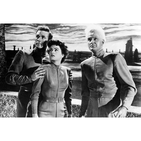 Jeff Morrow, Faith Domergue and Rex Reason in This Island Earth 24x36 Poster