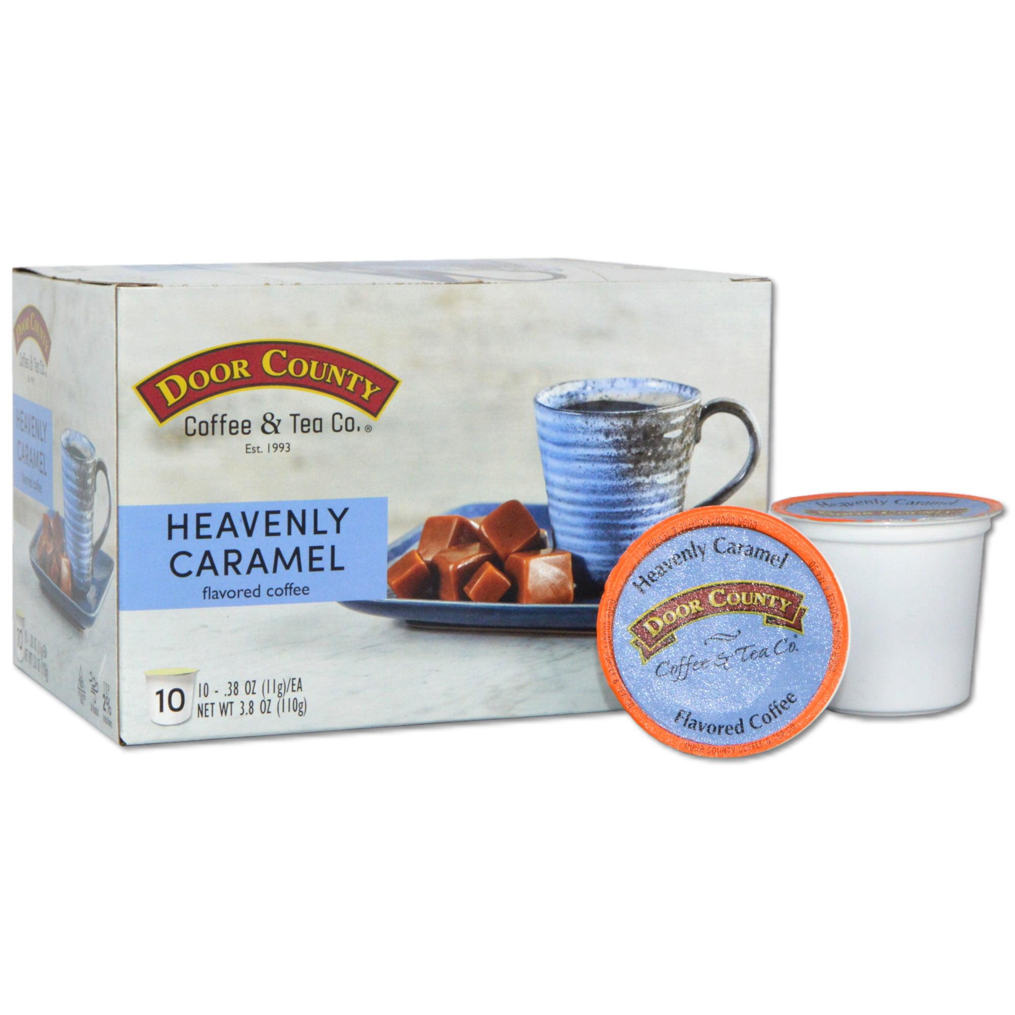 Door County Coffee Heavenly Caramel Flavored Coffee K-Cups - 10 Count - Walmart.com - Walmart.com