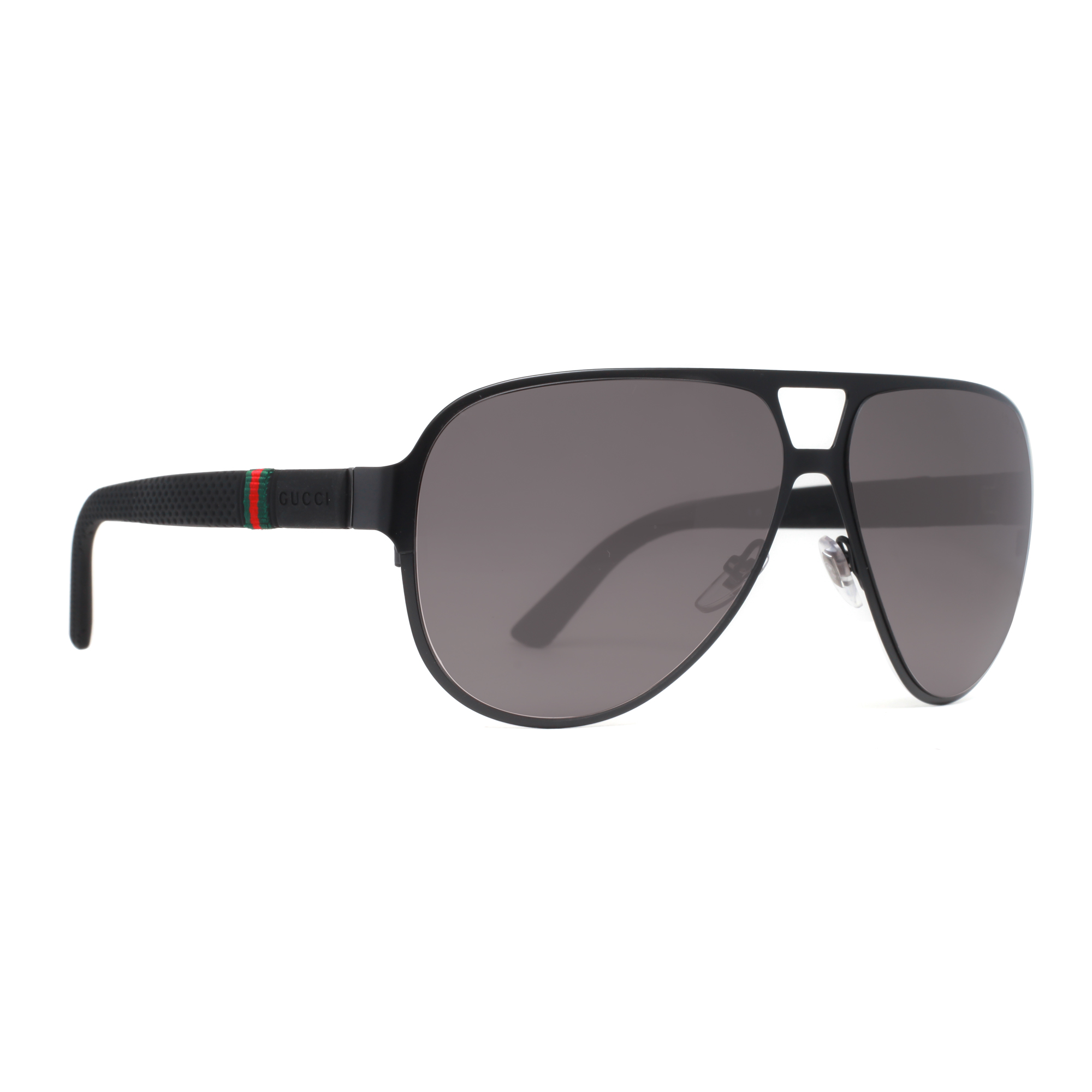 06c6111682a79 Gucci - GG 2252 S M7AEU Matte Black GG2252 S Unisex Aviator Sunglasses -  Walmart.com