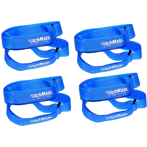 HitchMate QuickCinch Hook n' Loop Strap, Blue, 25pk