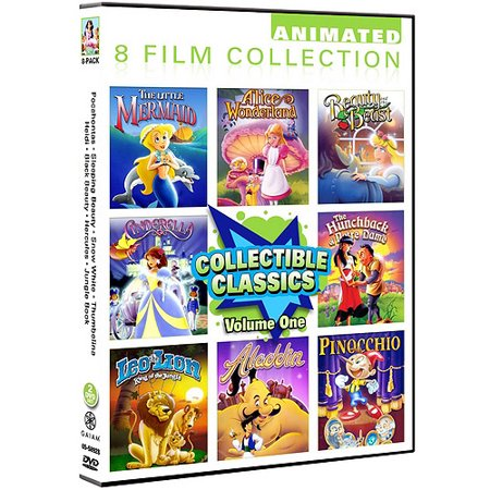 Collectible Classics - Vol. One: The Little Mermaid / Alice In Wonderland / Beauty And The Beast / Cinderella / The Hunchback Of Notre Dame / Leo The Lion / Aladdin / Pinocchio (Full Frame) - Adult Little Mermaid Pajamas