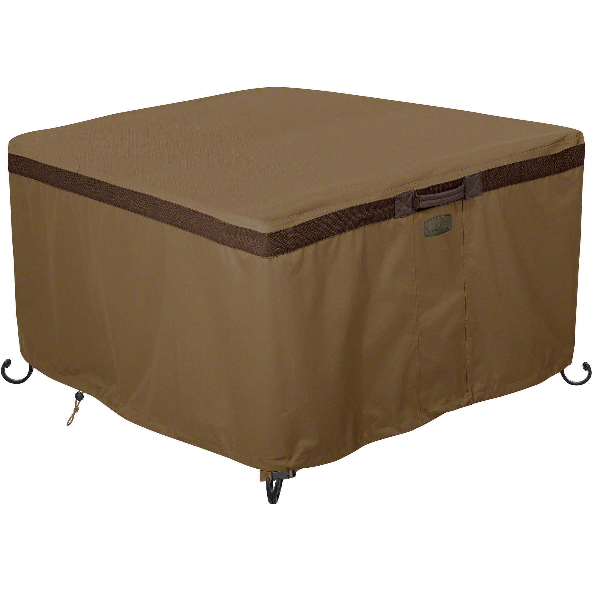 Classic Accessories Hickory Heavy-Duty Fire Pit Table Patio Storage Cover, Square