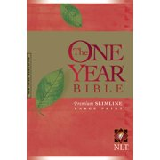 The One Year Bible NLT, Premium Slimline Large Print edition (Softcover)