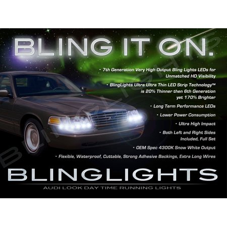 1998 2011 Lincoln Town Car Led Drl Light Strips For Headlamps