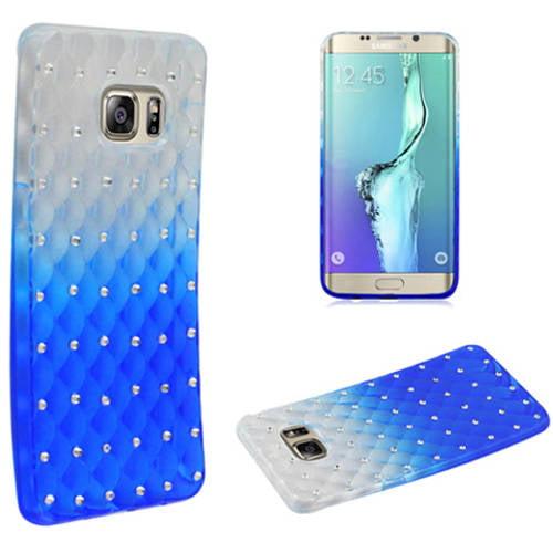 Mundaze Blue Gradient Spot Diamond Phone Case Cover for Samsung Galaxy S6 edge+