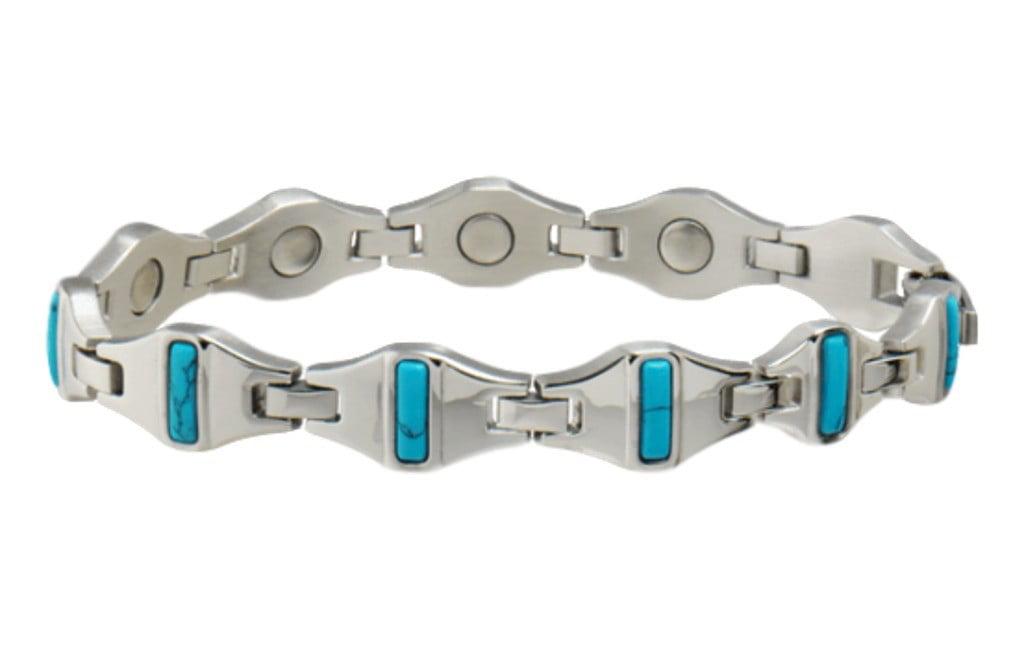 Sabona Jewelry Womens Bracelet Magnetic Cobalt Turquoise 335 by Sabona