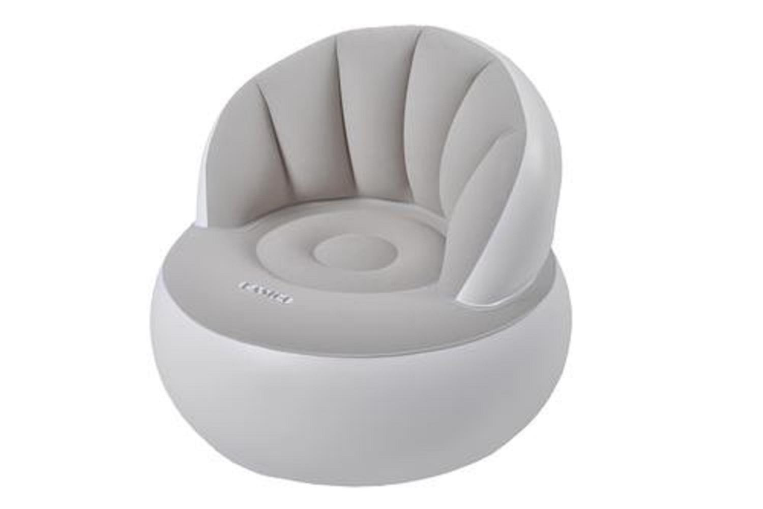 """33.5"""" Gray and White """"Easigo"""" Inflatable Indoor Outdoor Armchair by Pool Central"""