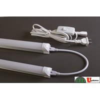 2x 4ft Integrated 20w LED Utility shop light Frosted garage basement with link and Power cable