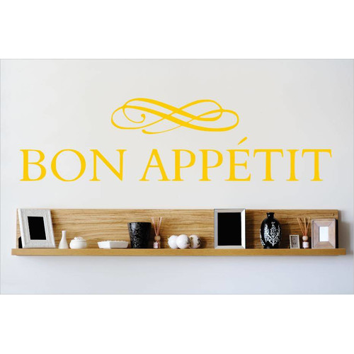Design With Vinyl Bon Appetit Wall Decal