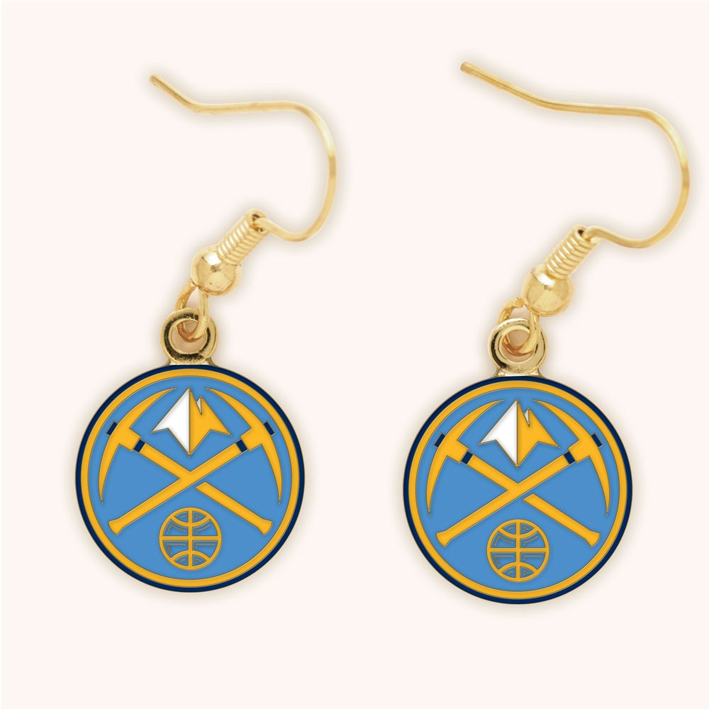Denver Nuggets Official NBA 1 inch  Earrings by WinCraft