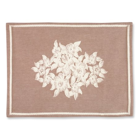 Luxury King Pillow Sham - Barda Floral Medallion Luxury Woven Jacquard Pillow Sham, Sham, Natural