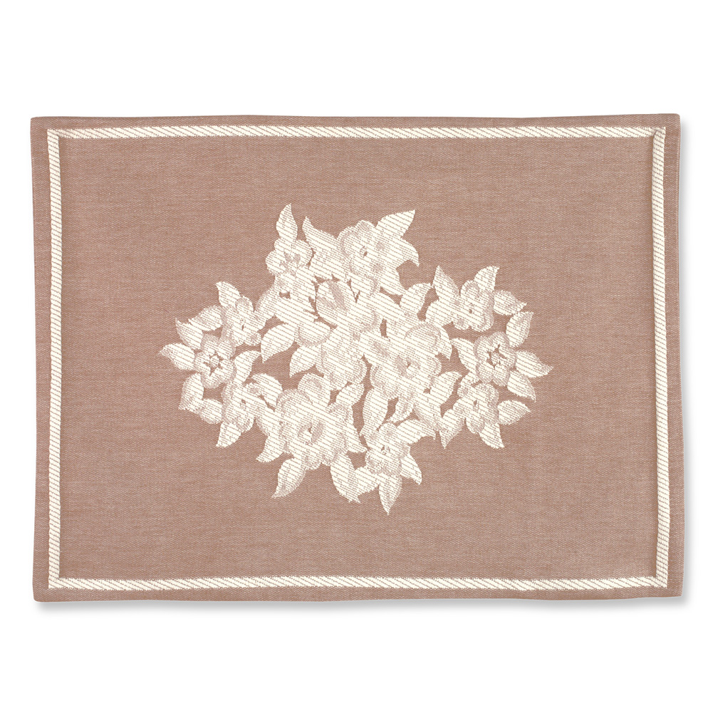 Barda Floral Medallion Luxury Woven Jacquard Pillow Sham, Sham, Natural
