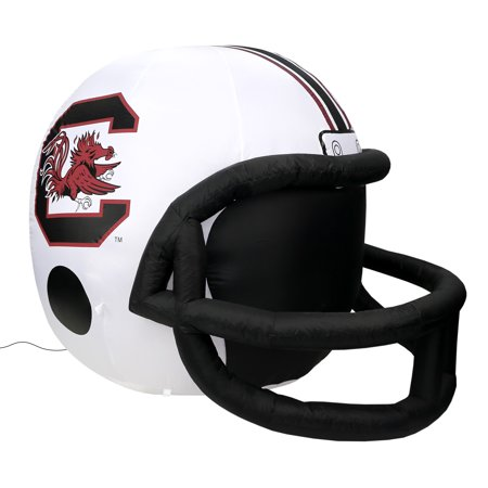 NCAA South Carolina Fighting Gamecocks Team Inflatable Lawn Helmet, White, One Size