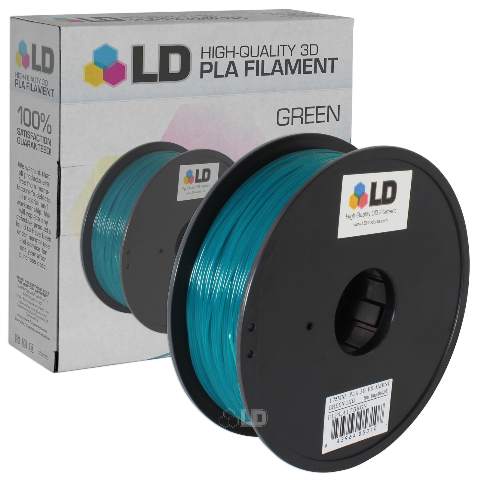 LD 1.75 mm PLA 3D Printer Filament (Multiple Colors)