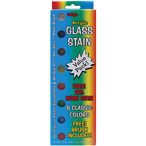 Kelly's Crafts Glass Stain Assortment Pack