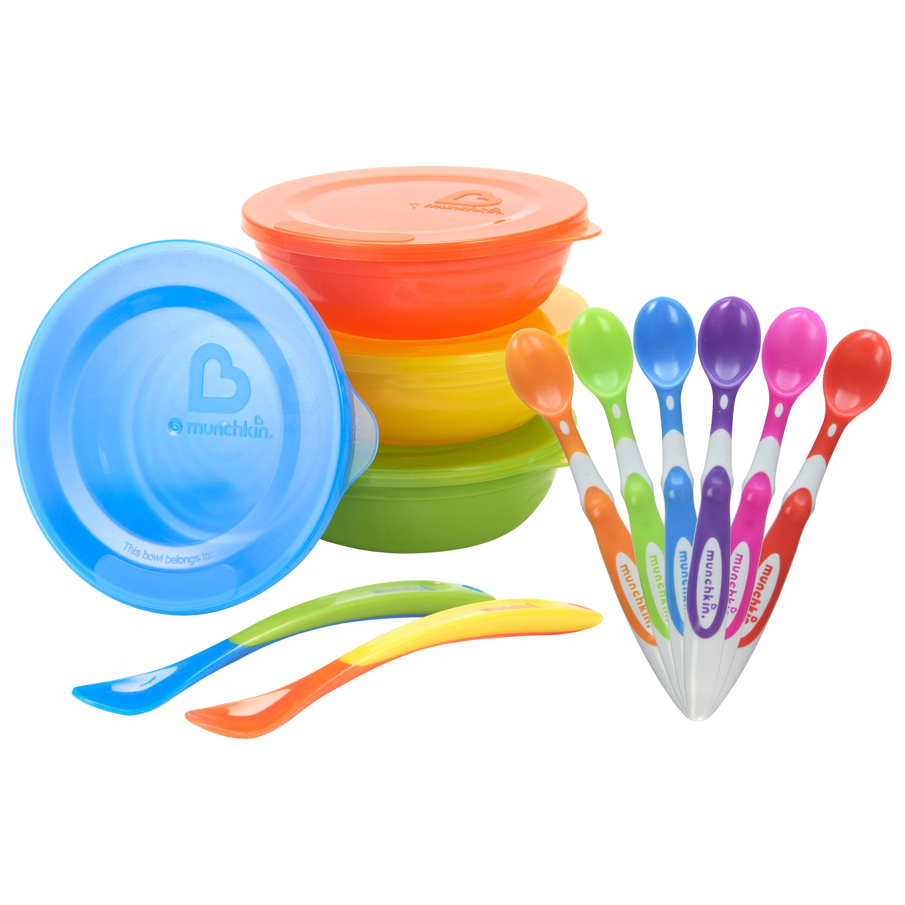 Munchkin Love-A-Bowls Set with Soft-Tip Infant Spoon 6 Count by Overstock