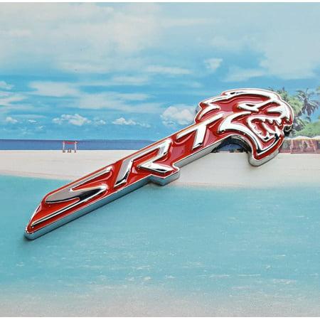 HELLCAT Red SRT Emblem side Fender Badge Sticker Decal Metal Dodge (Fender Decal)