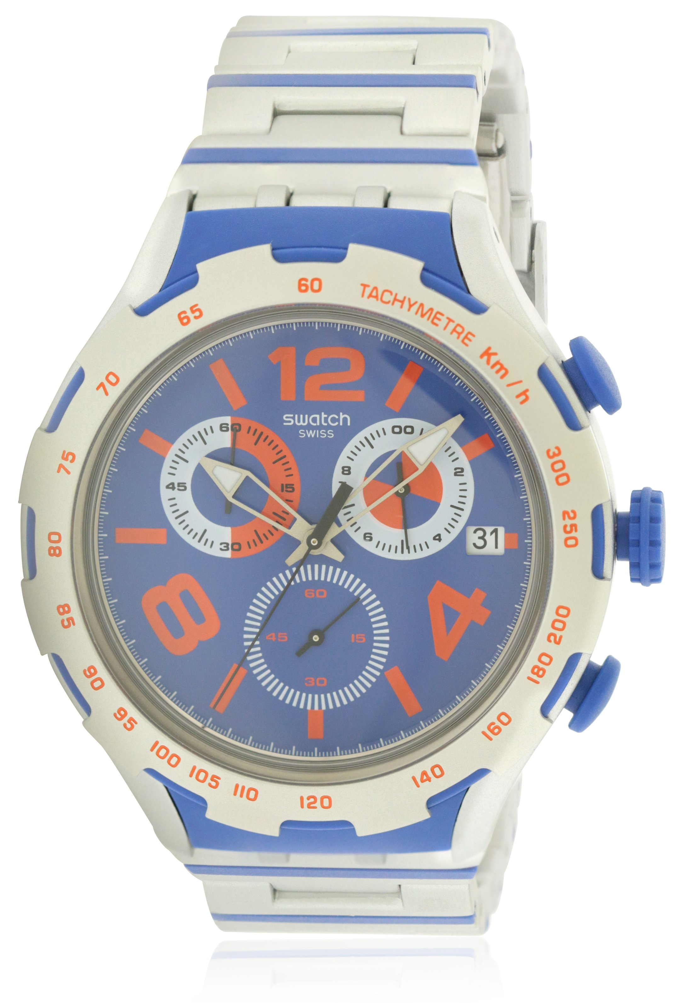 Swatch CHEMICAL BLUE Mens Watch YYS4011AG by Swatch