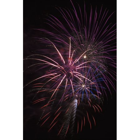 Fireworks display Astoria Oregon United States of America Poster Print by Robert L Potts  Design Pics