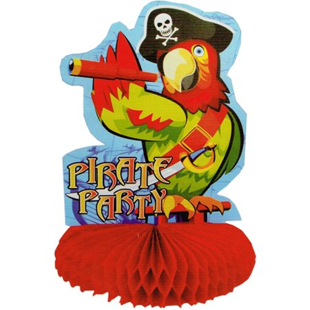 Pirate Party 'Parrot' Honeycomb Centerpiece - Party City Pirates