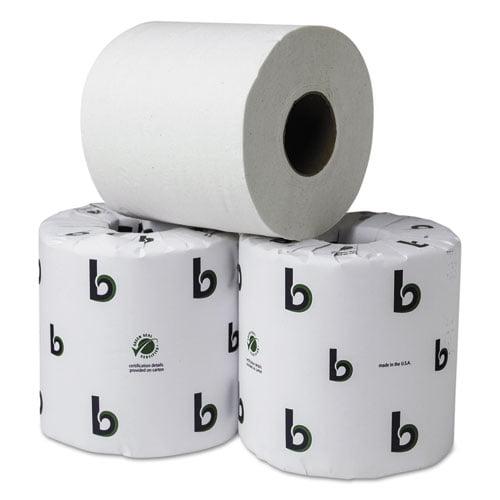 Boardwalk Boardwalk Green Plus Bathroom Tissue, White, 2 Ply, 500 Sheets, 80/carton