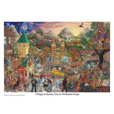 A Magical Mystery Tour (of 100 Beatles Songs) Poster - 32x22