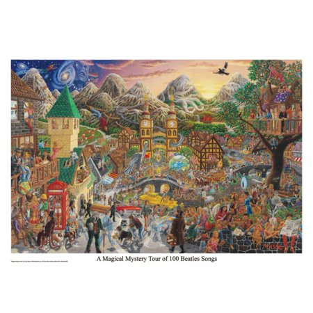 A Magical Mystery Tour (of 100 Beatles Songs) Poster - (Beatles Poster Card)