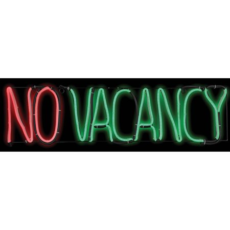 No Vacancy Glow Light Halloween Decoration (Halloween Light Show Timer)