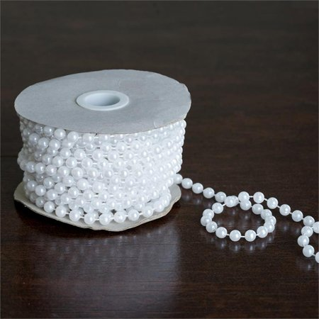 BalsaCircle 12 yards 6mm Faux Pearls String Beads - Wedding Party Home Crafts DIY Favors Centerpieces Fillers Decorations](Filler Beads)