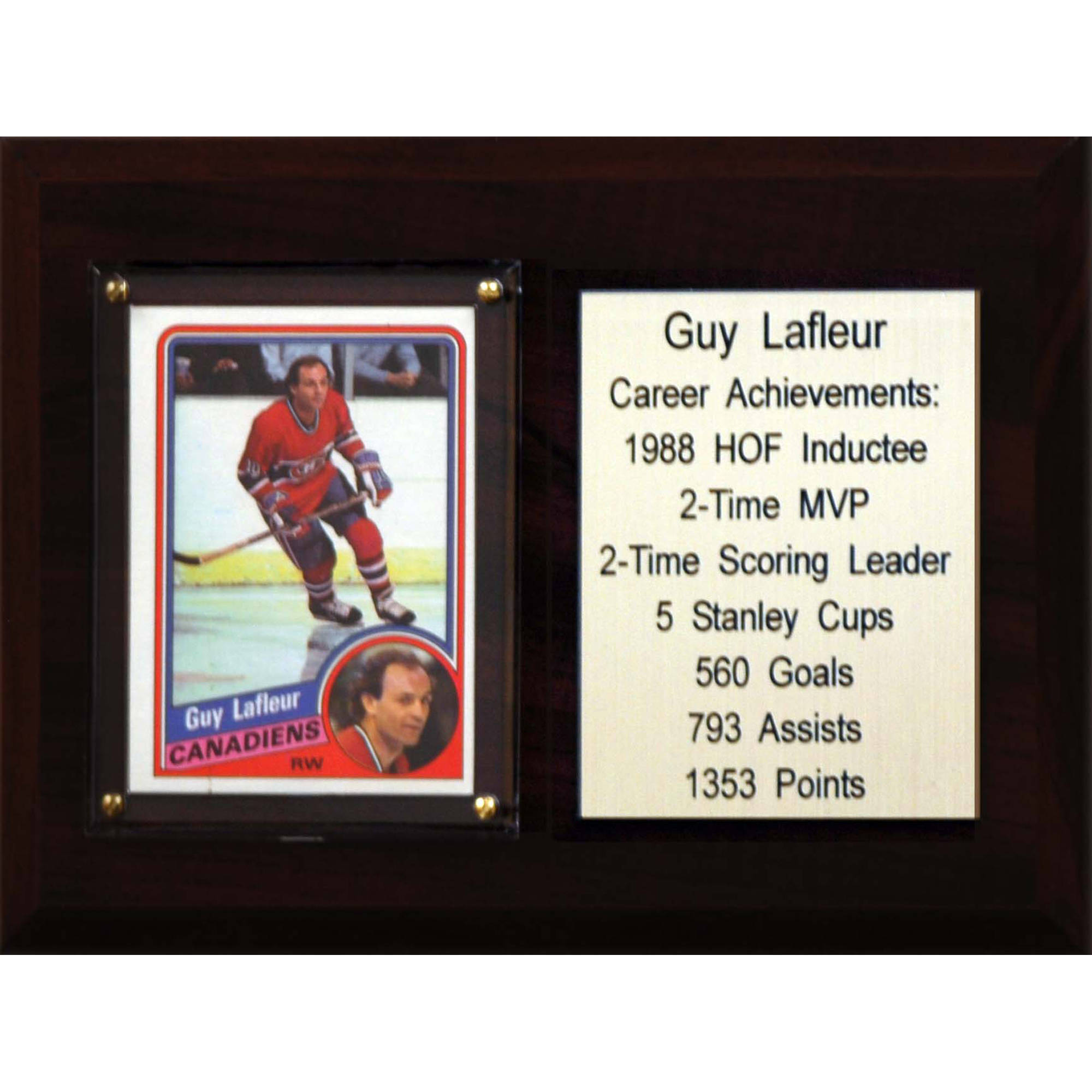 C&I Collectables NHL 6x8 Guy Lafleur Montreal Canadiens Career Stat Plaque