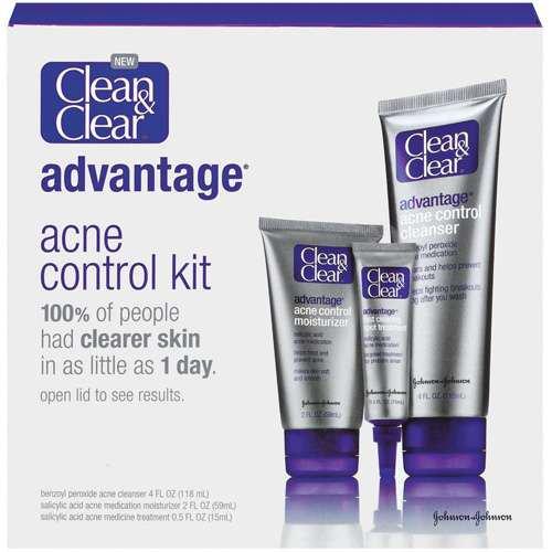 2 Pack - CLEAN & CLEAR Advantage Acne Control Kit 1 ea Hydra-Repair Wrinkle Cream