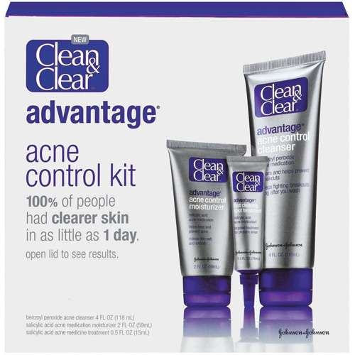 Clean & Clear Advantage Acne Control Kit, 12 oz