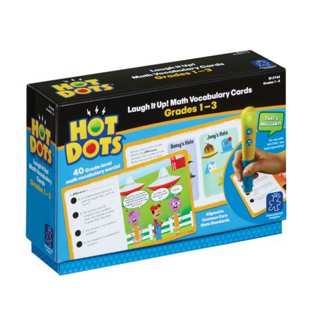 Educational Insights Hot Dots Laugh It Up! Math Vocabulary, Grades 1-3 - Vocabularry Toys