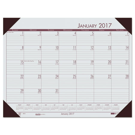 Ecotones Monthly Desk Pad Calendar (House of Doolittle Recycled EcoTones Mountain Gray Monthly Desk Pad Calendar, 22 x 17, 2018 )