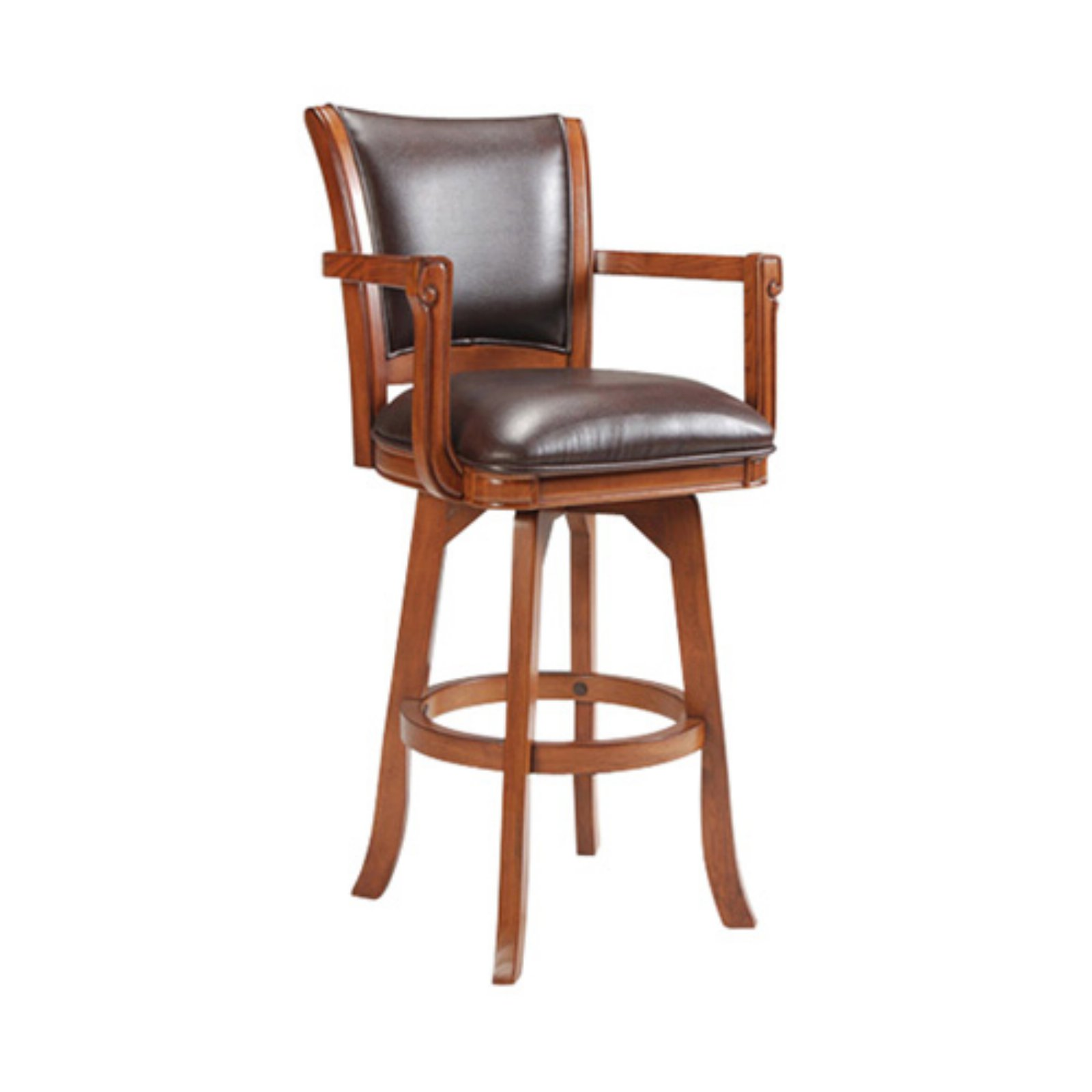 Park View Swivel Bar Stool, Medium Brown Oak Finish