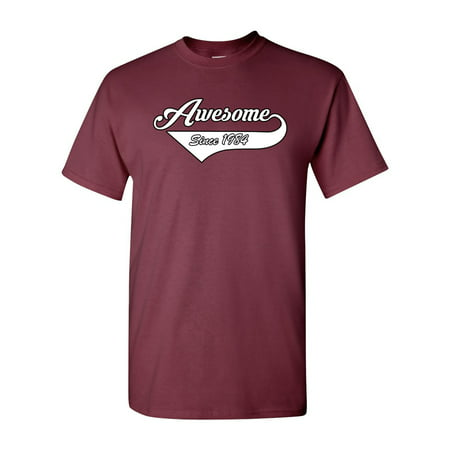 Awesome Since 1984 With Tail Gift Novelty DT Adult T-Shirt Tee