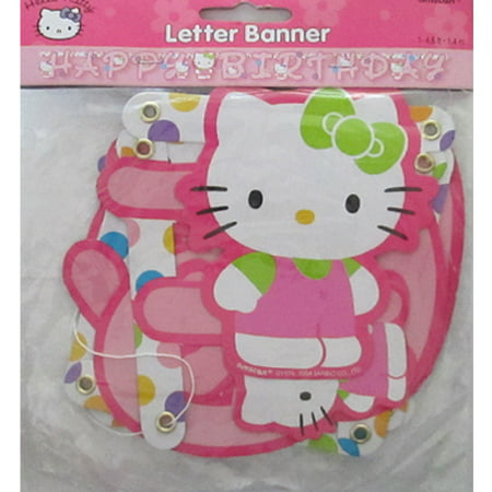 Hello Kitty 'Rainbow Stripes' Happy Birthday Banner (1ct) for $<!---->