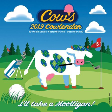 2019 COWS Art Wall Calendar, Cows by Wyman - Cow Calendar