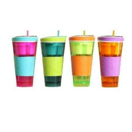 IDEA VILLAGE PRODUCTS SNAKZ Snackeez Snack & Drink Cup, Multicolor](Halloween Snack And Drink Ideas)