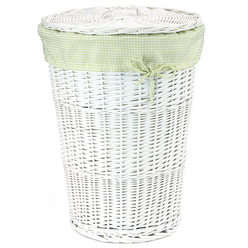 Burlington Large Wicker Hamper With Lid, White