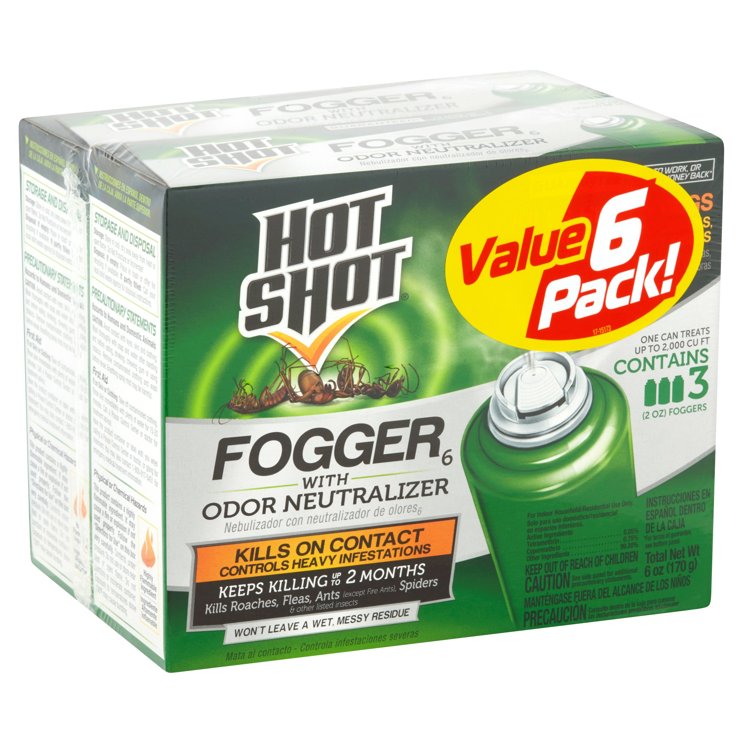 Hot Shot Fogger with Odor Neutralizer, 3-Pack, 2-Ounce
