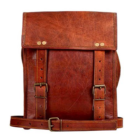 Genuine Leather Messenger Bag for Men Women iPad - Vintage Crossbody Satchel Bags by Rustic Town (11 inches)