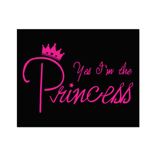 Secretly Designed Yes I'm the Princess Art Print