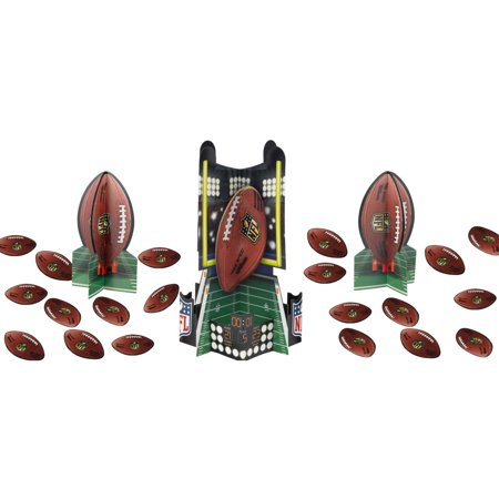 Amscan Football Super Bowl NFL Drive Table Decorating Kit 23pc Decoration Pack (Super Bowl Decorations Ideas)