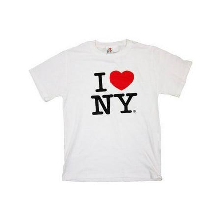 I Love NY New York Short Sleeve Screen Print Heart T-Shirt White Large](I Heart Ny Store)