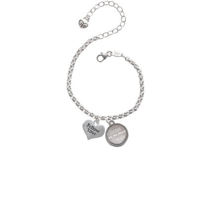 Follow Your Heart Sisters Are Best Friends Forever Engraved (Best Friend Engraved Bracelets)