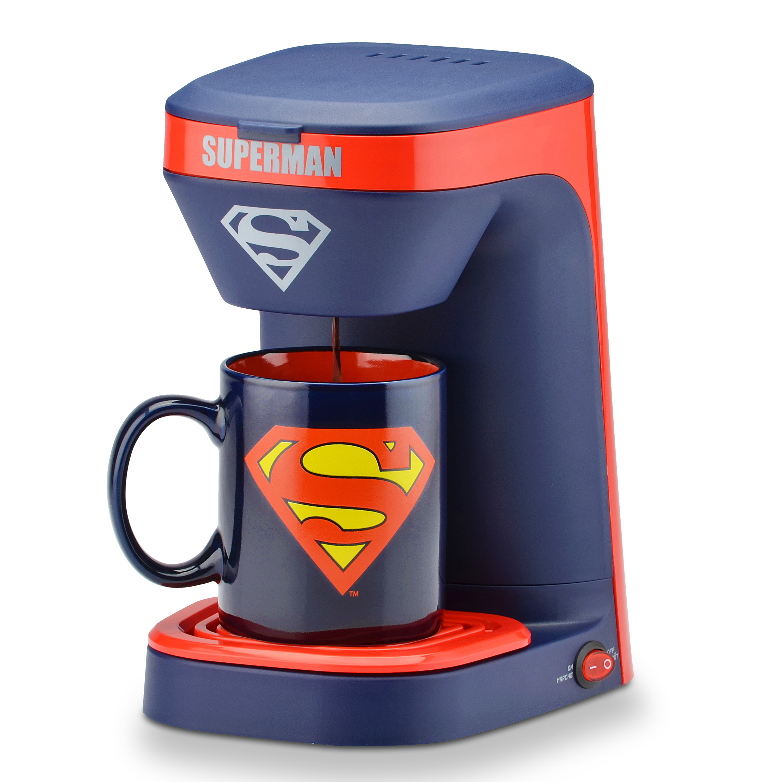 DC Superman 1-Cup Coffee Maker