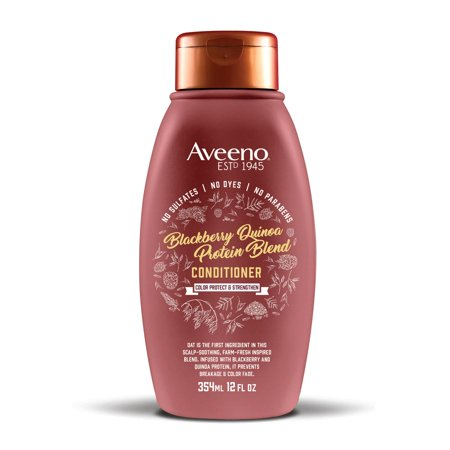 Wheat Protein Conditioner (Aveeno Blackberry Quinoa Protein Blend Conditioner, 12 fl. oz )