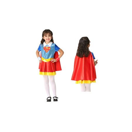 Girl's Super Hero Halloween Costume 4 Piece Set - Halloween Costume Superhero